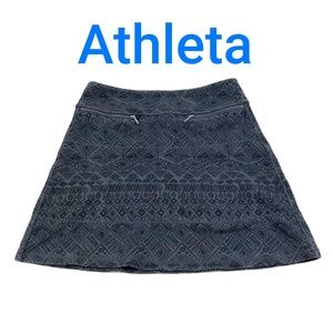 Athleta Womens A-line Skirt Black Gray Size M #J8